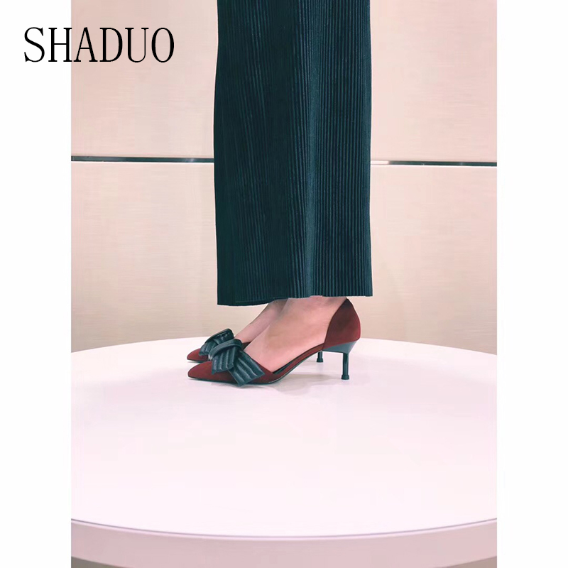 2018 shaduo delle donne di alta qualità Super bella super comode scarpe col tacco alto 6.0 cm-in Pumps da donna da Scarpe su  Gruppo 1