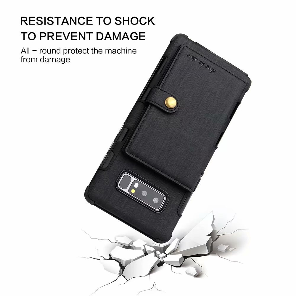 Retro Card Holder Back Cover PU Leather Wallet Case For Samsung Galaxy S20 Plus