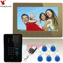 Yobang Security Touch Key 10″ Lcd RFID Password Video Door Phone Intercom System 1000 TV Line Remote Access Control System