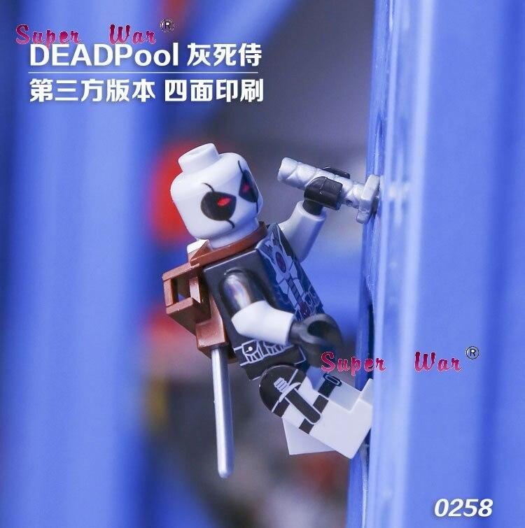 20pcs star wars superhero marvel Decool movie Deadpool building blocks action figure bricks model educational diy baby toys