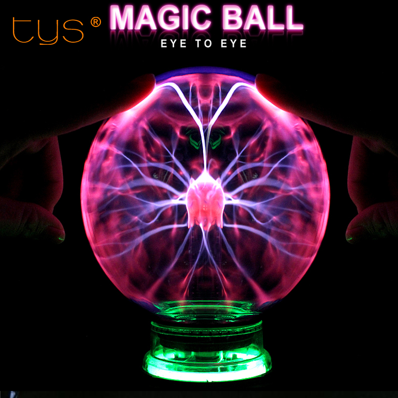 Novelty Glass Magic Plasma Ball Light 3 4 5 6 inch 220V Lights Sphere Nightlight Kids Gift For New Year Magic Plasma Night Lamp