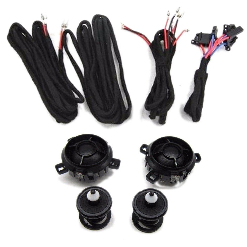 Haut-parleur de voiture TUKE OEM Corne Haut-parleur + poste de contrôle + câble Pour VW Golf Jetta Rabbitt Scorocco 5KD 035 411 A