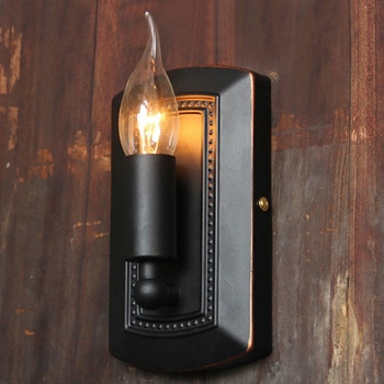 Nordic retro black E14 wall lamp aisle mirror front wall cafe bar wall lamps new bar decorative wall light ZA918501