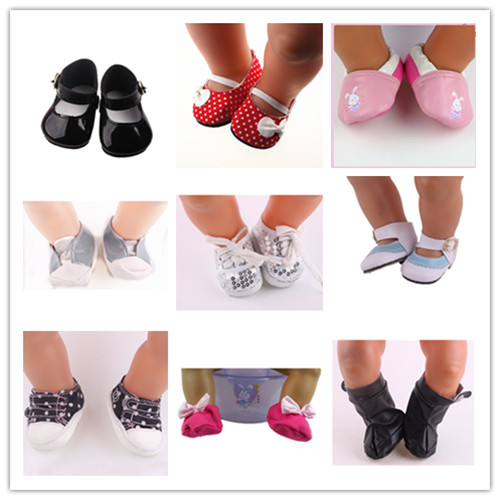 9 new style popular shoes Wear fit 43cm font b Baby b font Born zapf Children