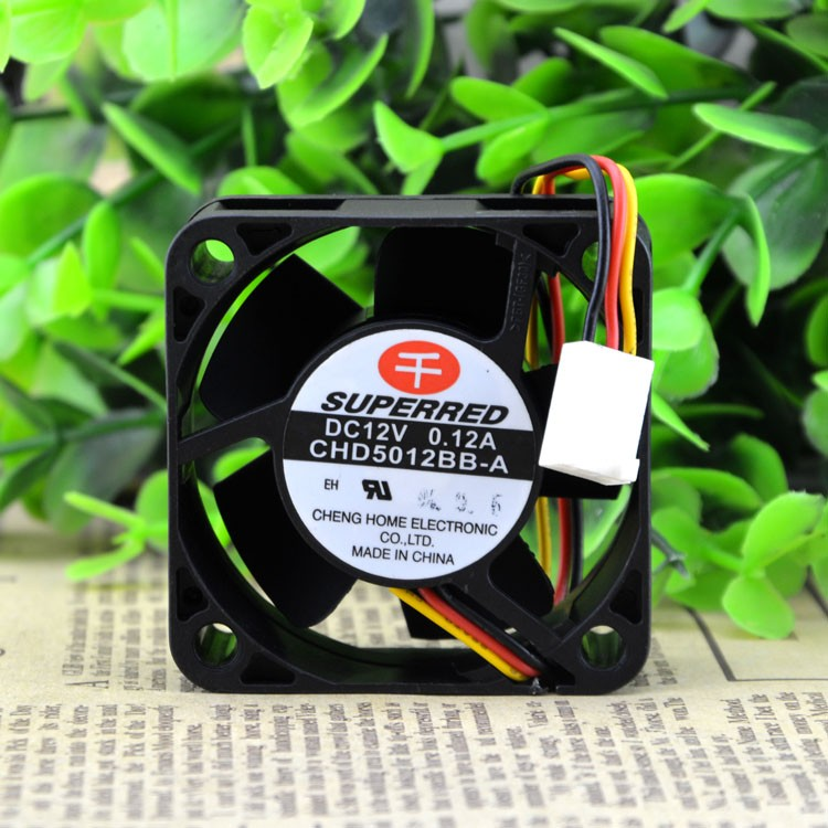 SUPERRED 50 5CM Double ball bearing 12V 0.12A CHD5012BB-A cooling fan 50X50XMM