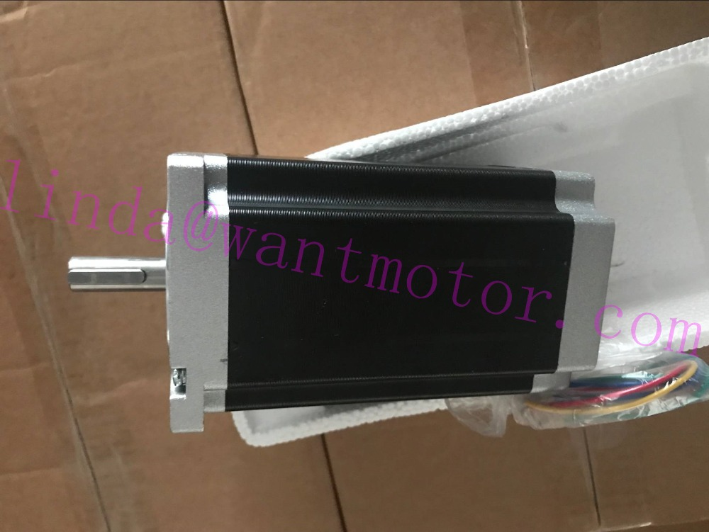 Strong Motor! CNC Wantai Nema34 Stepper Motor 1700oz-in 151mm 6A key way 12.7mm Shaft  CE ROHS ISO cnc router  Milling Machine 220v 110v strong 90 e102s e type motor