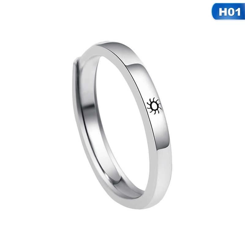 Кольца для влюбленных из цинкового сплава, серебряные кольца для влюбленных, обручальные кольца для женщин и мужчин, вечерние украшения, подарок