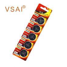 VSAI 5pcs CR2450 Button Cell Coin Lithium Battery 3V KCR2450 5029LC LM2450 Batteries