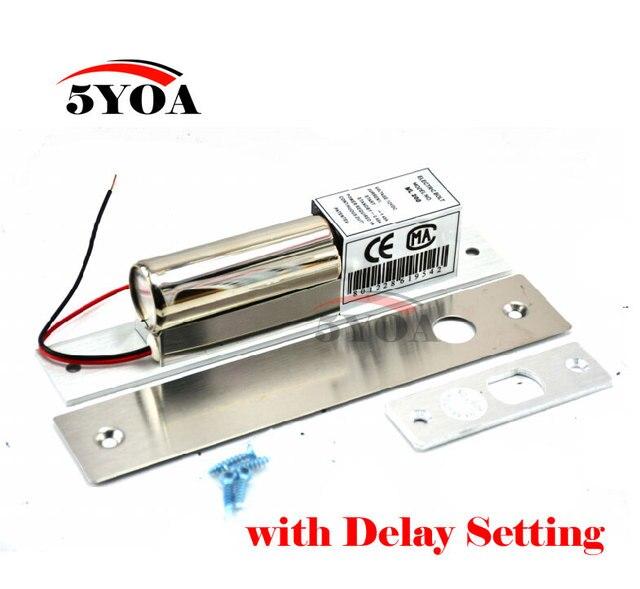 مسمار كهربائي قفل درجة حرارة منخفضة تأخير إعداد تيار مستمر 12 فولت الفولاذ المقاوم للصدأ الثقيلة فشل آمن قطرة باب التحكم في الوصول الأمن