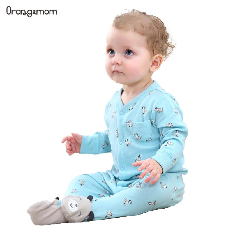 Orangemom 2019 fashion baby pajamas infant baby girl clothing unisex baby boys clothes 100 cotton baby rompers newborn in Rompers from Mother Kids