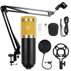 BM-800 Condenser Audio 3.5mm Wired Studio Microphone Vocal Recording KTV Karaoke Microphone Set Mic W/Stand For Computer