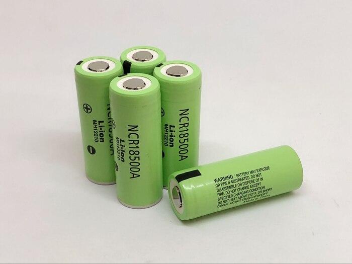 Bateria original nova para panasonic ncr18500a 2040mah 18500 3.7v baterias de lítio recarregável lanterna tocha pilha