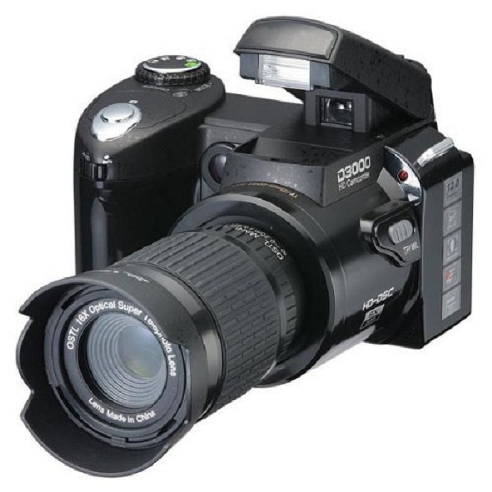 Digital Camera D3000 16 Times Optical Zoom Professional