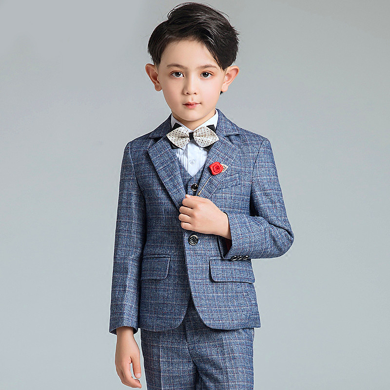 c1fd676a0 ... Formal Spring Autumn Wedding Dress Boy Suits. . 2018 New Fashion Gray/Blue  Baby Boys Suit Kids Blazers Boy Suit For Weddings Prom. sku: 32870887516