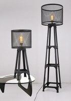 Antique industrial wind metal creative iron art iron art model floor lamp