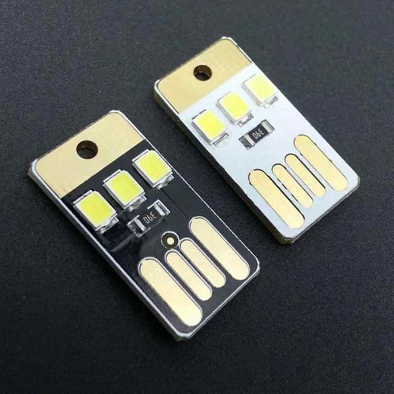 Mini extérieur mince Mobile USB LED petites lumières pour Camping nuit marche tente lampe lumière Portable économie d'énergie lampe de poche #2