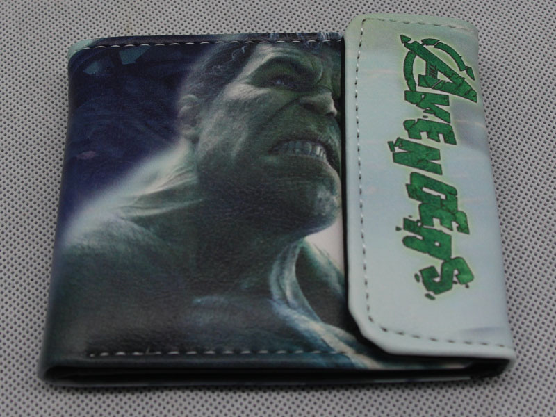 Marvel DC Comics Superhero Wallet Unisex Cartoon Hasp Short Wallets Photo Card Holder Purse - Captain America Hulk Batman цена