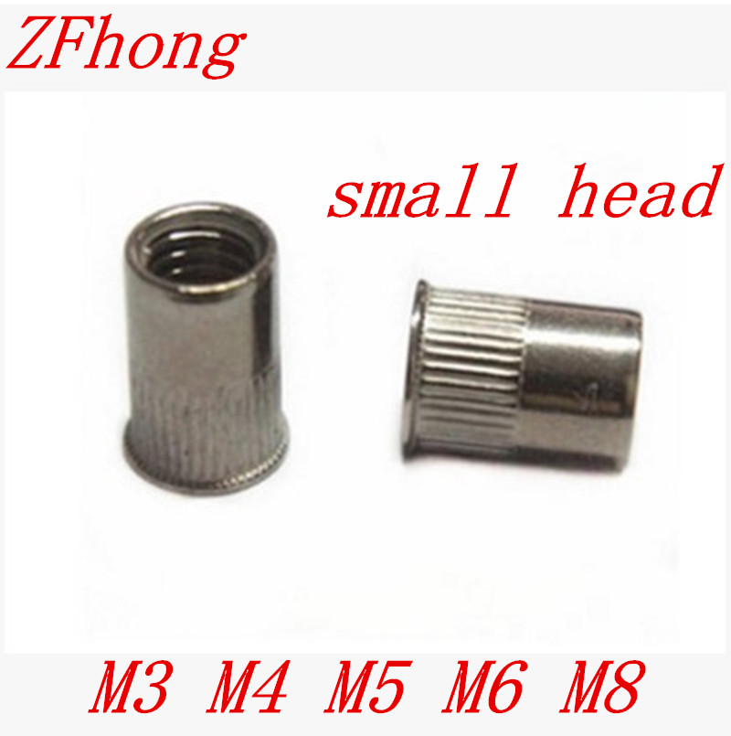 small head stainless steel rivet nut M3 M4 M5 M6 M8  Metric Flat Head Insert nutsmall head stainless steel rivet nut M3 M4 M5 M6 M8  Metric Flat Head Insert nut