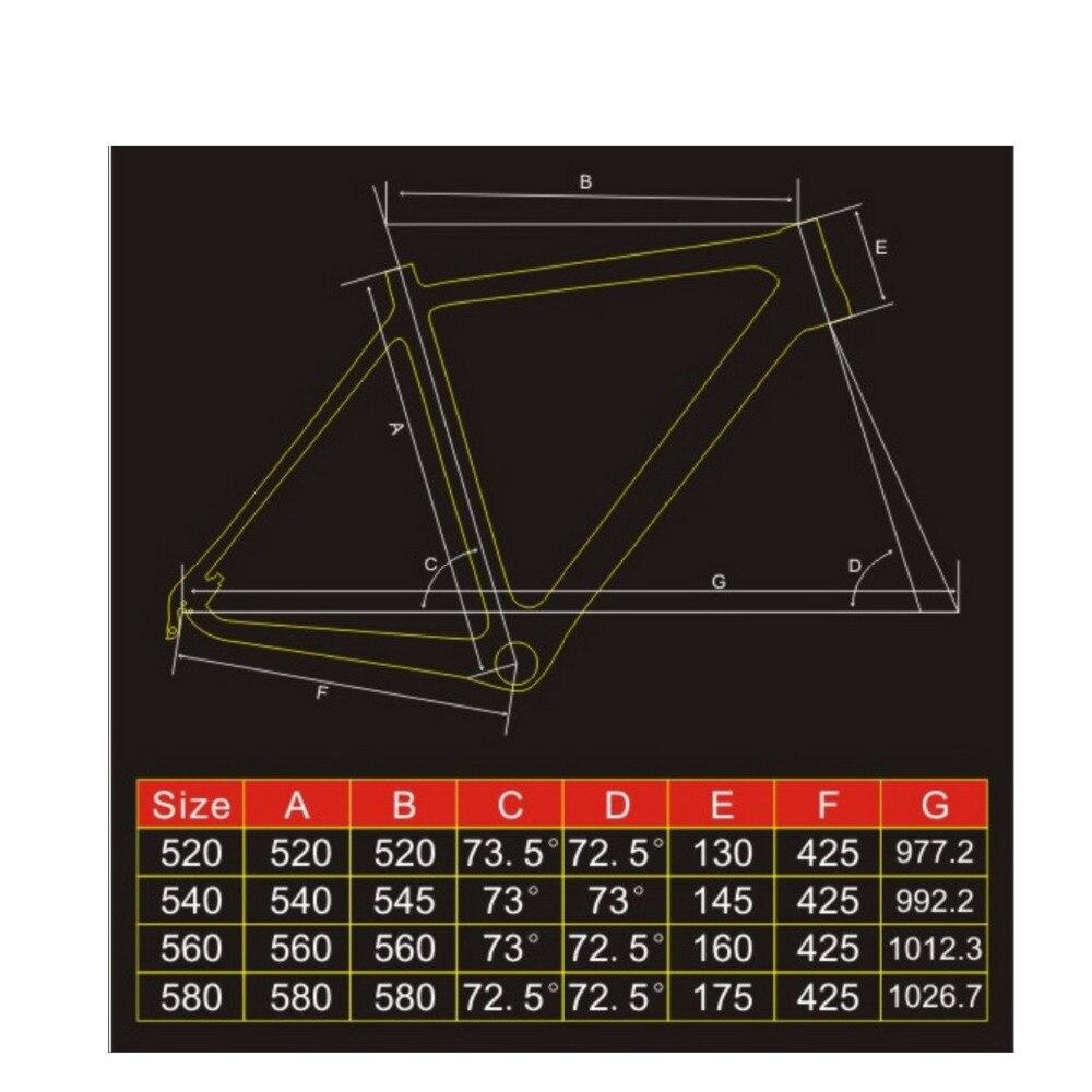WUNDER 700C Kegel rohr Carbon cyclocross rahmen scheibenbremse Volle ...