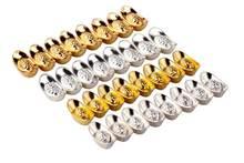 10 pcs Liga Decoração Decoração de Casa Sorte Feng Shui Yuanbao Bênção Decoração Ornamento de Ouro/Prata