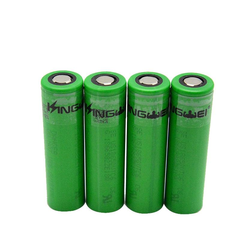 KingWei Para Sony VTC6 Alta Potência 18650 3000 mah 3 7 v Bateria Li-ion De  Lítio Recarregável Baterias Para Cigarro e-
