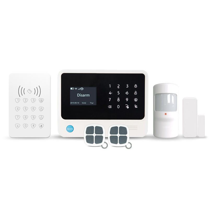 433MHz Turkish language smart home security system for Turkish home GSM Wifi burglar alarm system with RDIF keypad