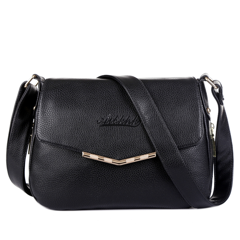 Hot Sale 2016 Fashion Women Messenger Bags Soft Cowhide Genuine Leather Crossbody Female Shoulder Bags For Women Ladies Handbags