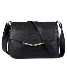 Heißer Verkauf 2016 Mode Frauen Messenger Bags Weiche Rindleder-echtes Leder Crossbody Weibliche Umhängetaschen Für Frauen Damen Handtaschen