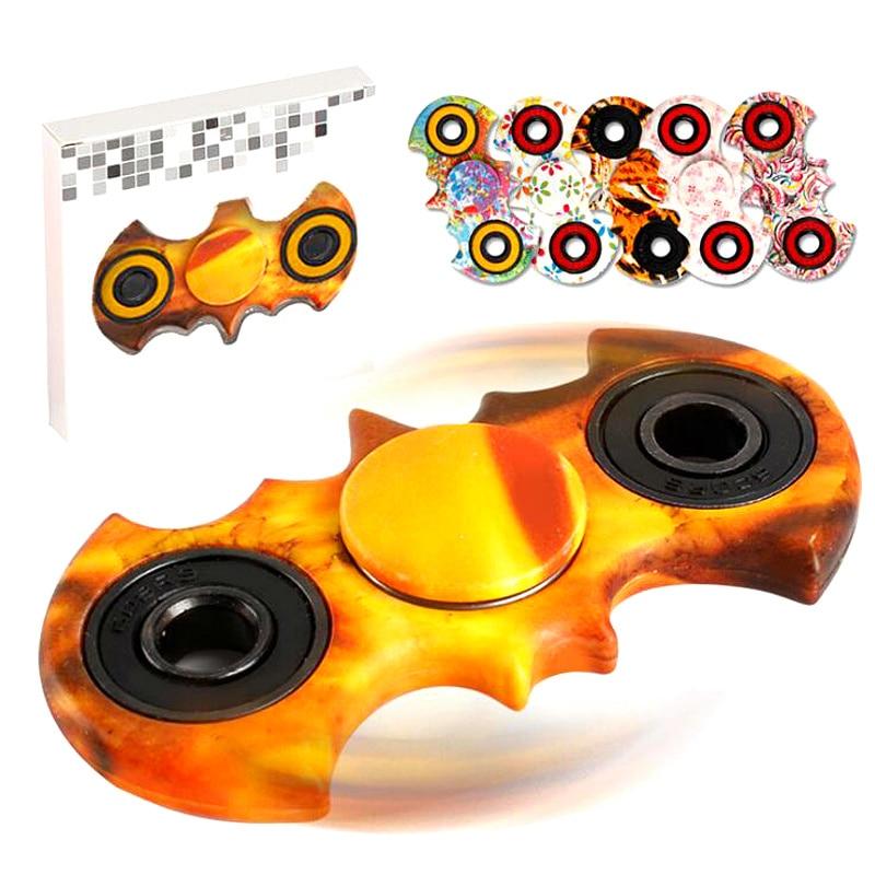 7 Style Multicolore Bat Hand Spinner Fidget Toys Torqbar EDC Sensory Fidget Spinner For Autism And