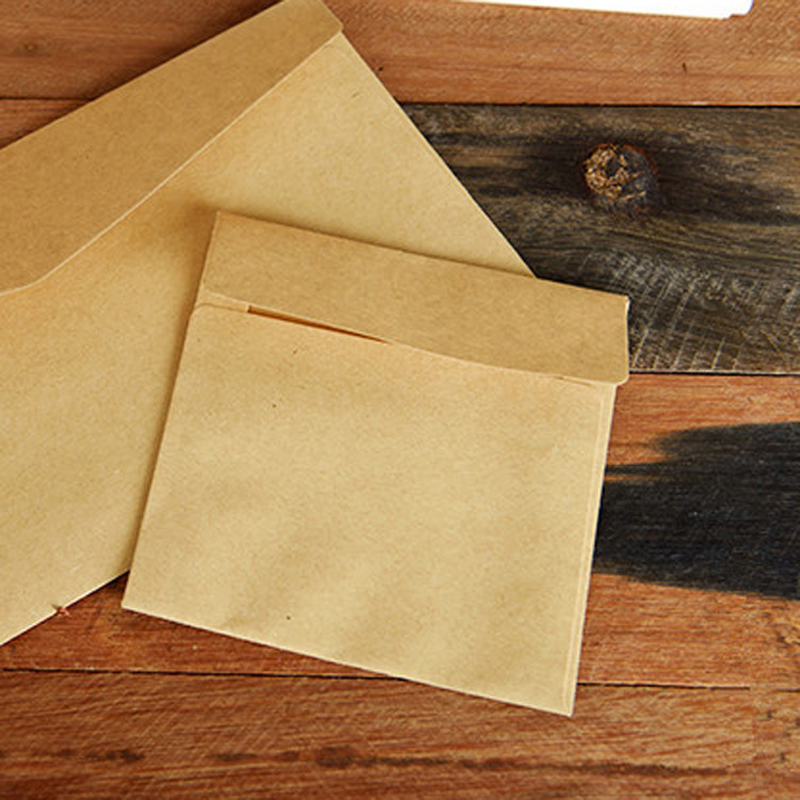 100pcs lot 10 9cm Card Mini Card Holder Bank Card Storage Small Envelope Small Kraft Paper Envelope in Paper Envelopes from Office School Supplies