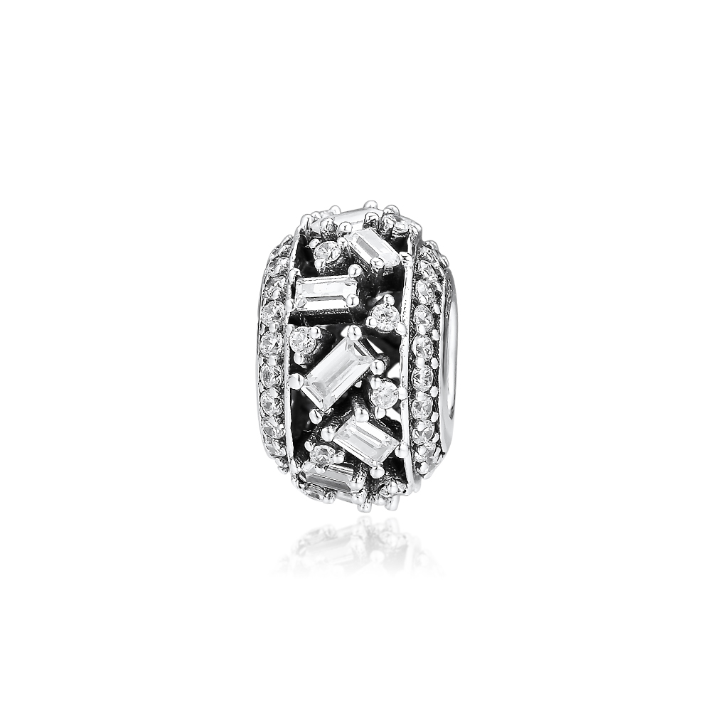 CKK Fits For Pandora Charms Bracelets Chiselled Elegance Charm 100% 925 Sterling-Silver-Jewelry