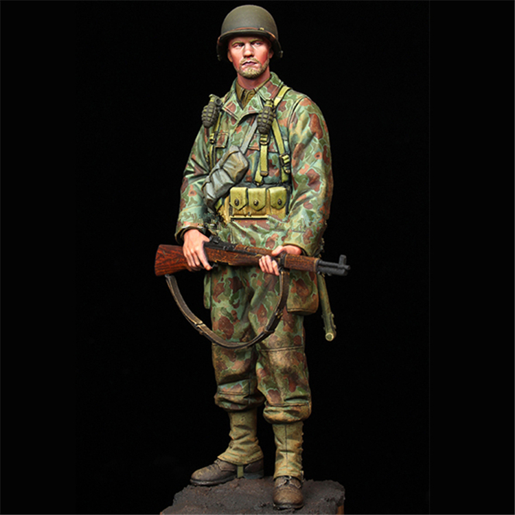 1:16 WW2 historical resin figures soldiers (Double-head) model kits US Armored Infantry uncoated Free Shipping 215