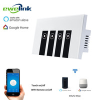 Ewelink US Type 4 Gang Wall Light App Switch Touch Control Panel Wifi Remote Control Via