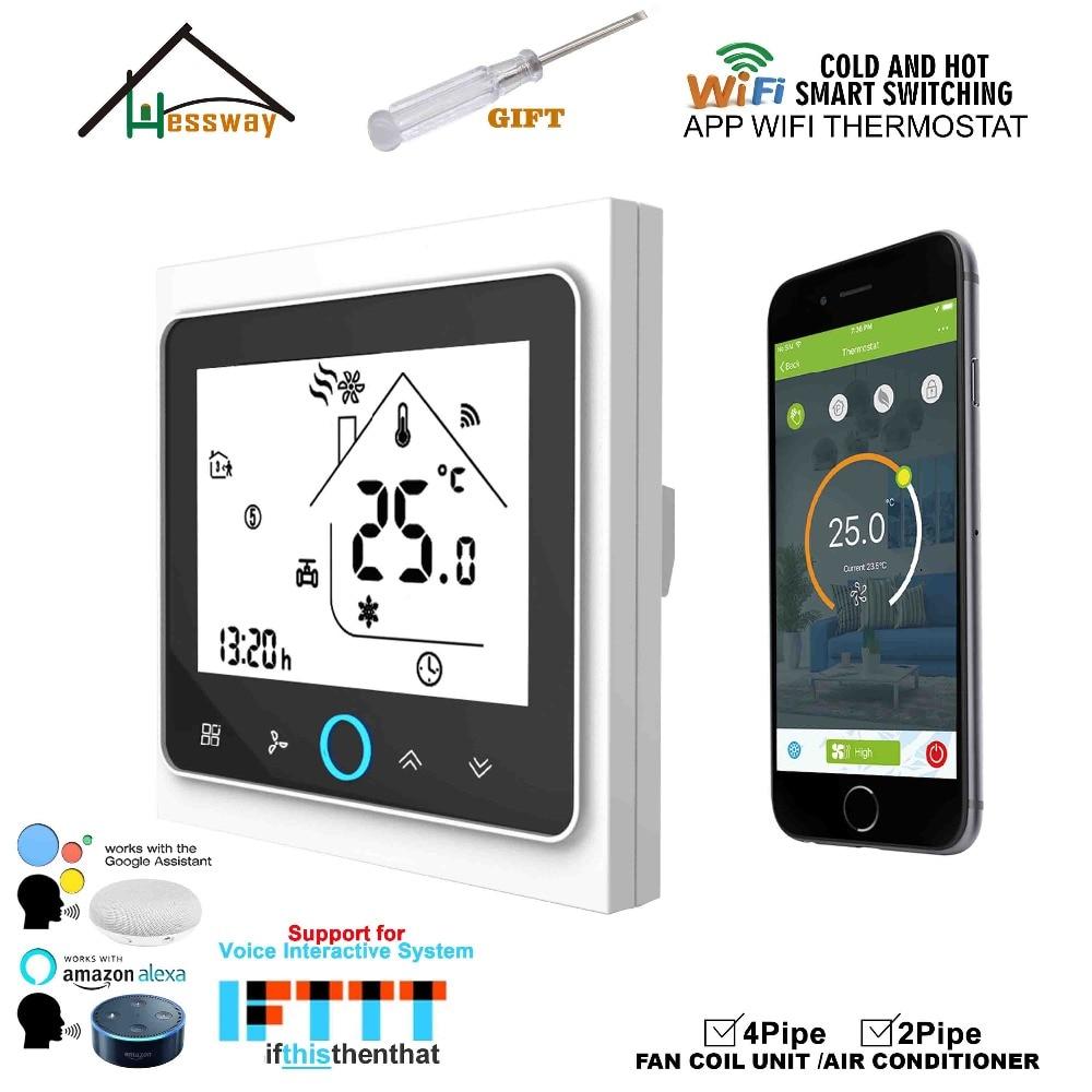HESSWAY WIFI mobile APP contrôle à distance des la maison thermostat de contrôle de température commutateur pour ventilo-convecteur chaleur cool