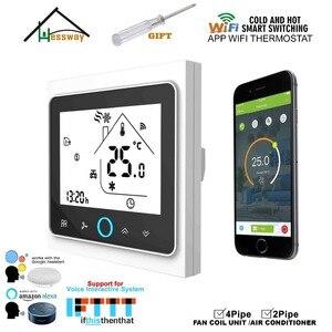 Image 1 - Lapp Mobile WIFI di shouway controlla da remoto linterruttore del termostato di controllo della temperatura domestica per il raffreddamento del Fan Coil