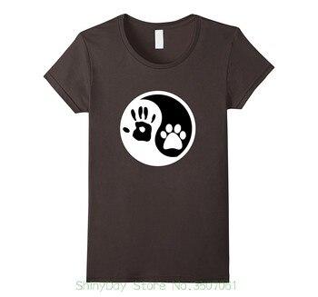 New Mens Spring Summer Dress Short Sleeve Casual Hippie Yin Yang Dog Lovers T-shirt Tshirt