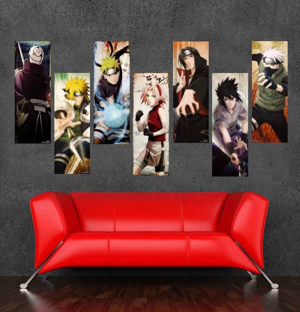 ộ_ộ ༽Alta calidad japonesa anime lona Cartoon Naruto cuadros ...