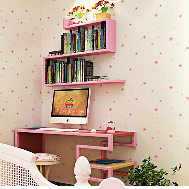Pink Floral Wallpaper for Girls Room Waterproof PVC Wall Paper Roll Bedroom  Wallpaper for Walls Cartoon. Aliexpress com   Buy Pink Floral Wallpaper for Girls Room