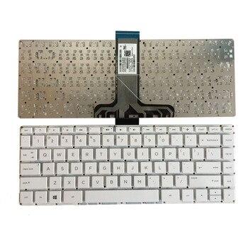 Nowa klawiatura laptopa US dla HP Pavilion 14-ax 14-ax000 14-ax100 901658-031 NSK-CX3SQ angielski biały bez ramki klawiatura