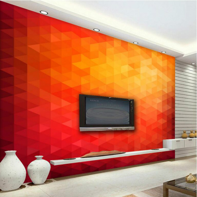 3d mur papier triangle peinture d corative papier peint pour salon tv backd am lioration de l. Black Bedroom Furniture Sets. Home Design Ideas