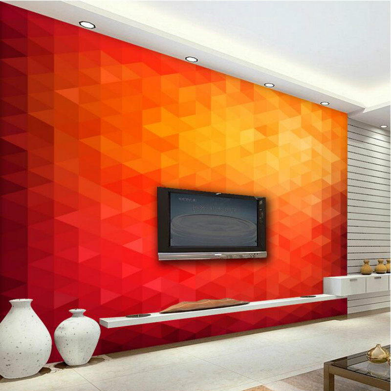 3d Wall Paper Triangle Decorative Painting Wallpaper for Living Room TV Backd Home Improvement 3d Non-woven Wallpapers Bedroom 3d modern wallpapers home decor solid color wallpaper 3d non woven wall paper rolls decorative bedroom wallpaper green blue