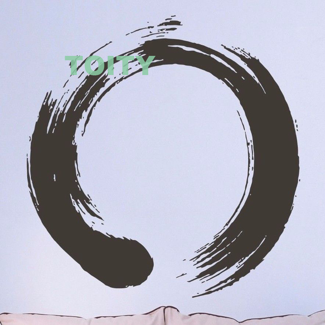 Vinyl Decal Wall Sticker Circle Enso Zen Calligraphy Meditation