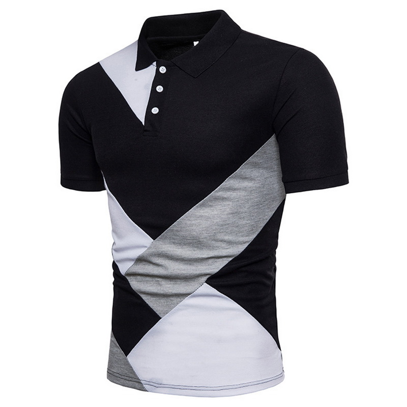 Laamei Men 2019 Summer Fashion Camisa Polo Shirts High Quality Short Sleeve Mens Polo Shirt Brands Breathable Brand Tee Tops Рубашка поло