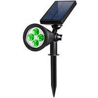 4led 200 Lumen outdoor solar green wandlampen, Spotlight, Landschap verlichting led solar lamp & Spot Lichtpunt voor tuin