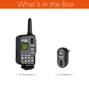 Image 2 - Godox Ft 16 الزناد 16 قنوات لاسلكية التحكم ل witstro السلطة godox ad180 ad360 250SDI 300SDI DE300 DE400 e250 e300