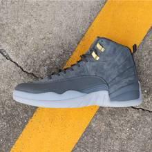 1a5fd6f4 2019 New Arrival Jordan Retro 12 XII buty do koszykówki męskie trampki  ciemny szary klasa 2003