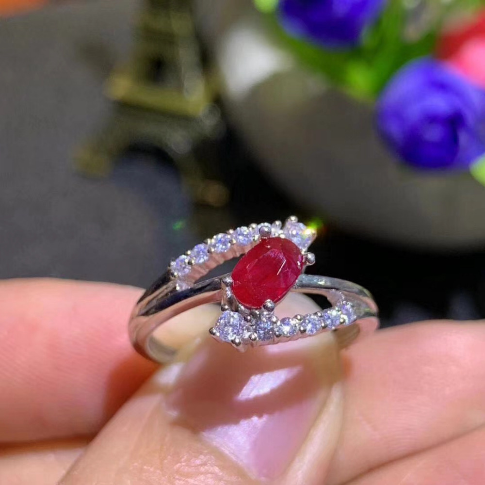 Natural red ruby gem Ring Natural gemstone ring S925 sterling silver trendy Three layers Row women wedding girl gift JewelryNatural red ruby gem Ring Natural gemstone ring S925 sterling silver trendy Three layers Row women wedding girl gift Jewelry