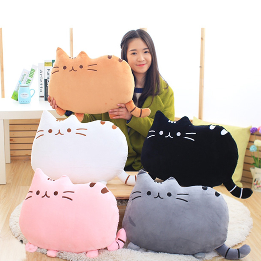 1pcs 25cm Lovely Soft Plush Stuffed Animal Doll Anime Toy Pusheen cat pillow for Girl Kid Cute Cushion brinquedos  lovely sing dance dog toy pusheen cotton soft plush hold doll antistress for children baby