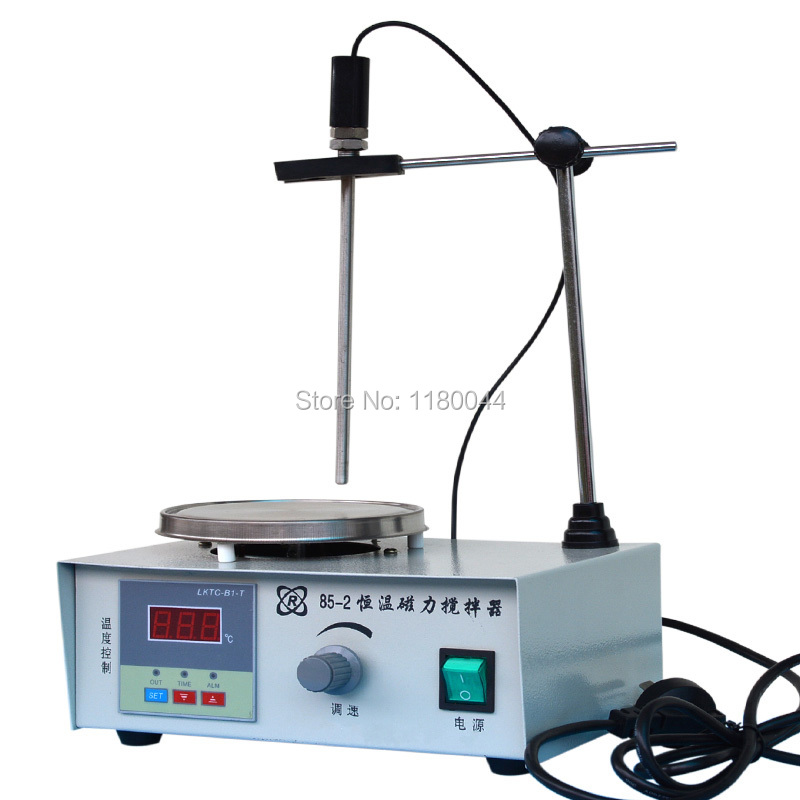Lab Stirrer mixer Magnetic Stirrer with heating plate hotplate mixer 220V temperature dispaly 2017 new magnetic stirrer with heating for industry agriculture health and medicine scientific research and college labs