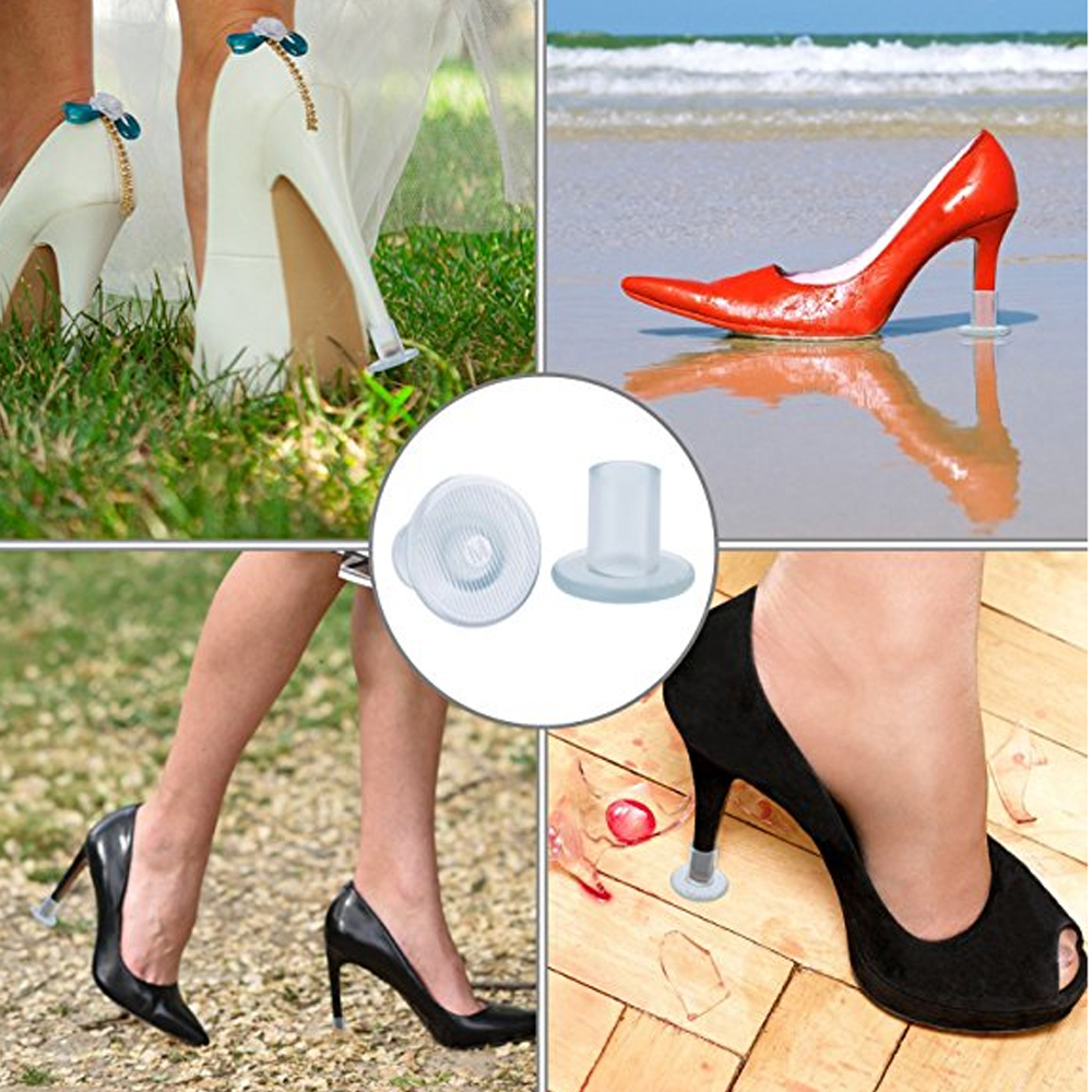 60 Pairs Lot Heel Stopper High Heeler Antislip Silicone Heel Protectors Stiletto Dancing Covers For Bridal